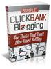 Thumbnail Simple Clickbank Blogging